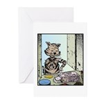 Catnip patches Greeting Cards