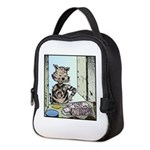 Catnip patches Neoprene Lunch Bag