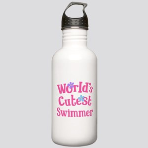 Worlds Cutest Swimmer Stainless Water Bottle 1.0L