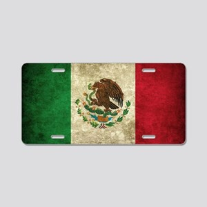 Mexico Flag dirty Aluminum License Plate