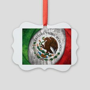 Mexican flag centre Picture Ornament