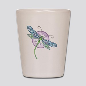 Whimsical Dragonfly Shot Glass