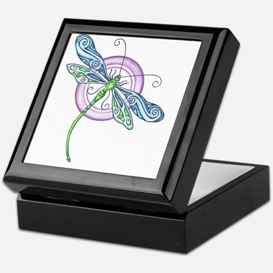 Whimsical Dragonfly Keepsake Box