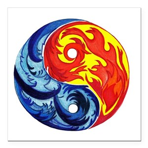 Yin Yang Fire And Ice Car Accessories Cafepress