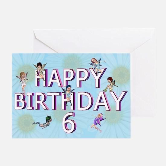 6th birthday card with Flower fairies Greeting Car