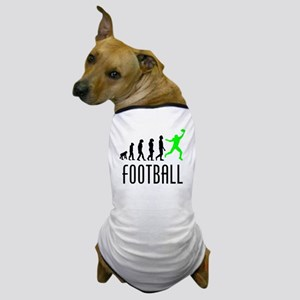 Football Wide Receiver Evolution (Green) Dog T-Shi