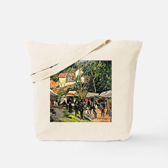 Pissarro - Festival at the Hermitage Tote Bag