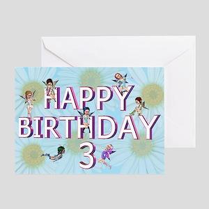 3rd birthday card with Flower fairies Greeting Car
