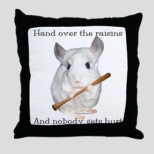 Chin Raisin2 Throw Pillow