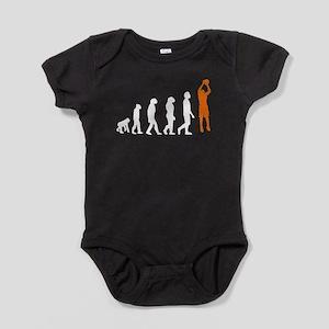 Basketball Jump Shot Evolution (Orange) Baby Bodys