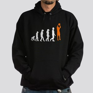 Basketball Jump Shot Evolution (Orange) Hoody