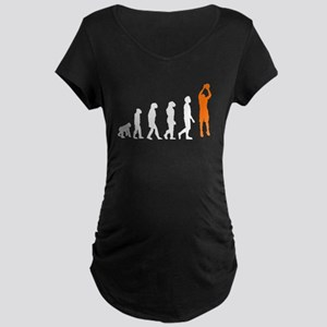 Basketball Jump Shot Evolution (Orange) Maternity