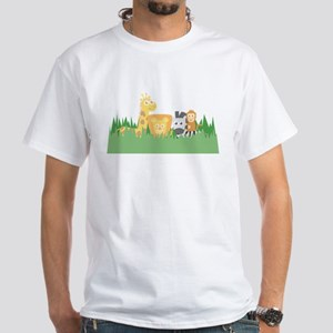 Cute and Colourful Safari Animals, for Kids T-Shir