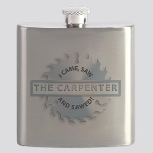 Carpenter buzzsaw, i came, saw and sawed Flask