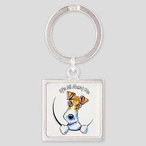 Wire Fox Terrier IAAM Square Keychain