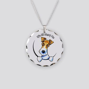 Wire Fox Terrier IAAM Necklace Circle Charm