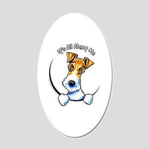Wire Fox Terrier IAAM 20x12 Oval Wall Decal