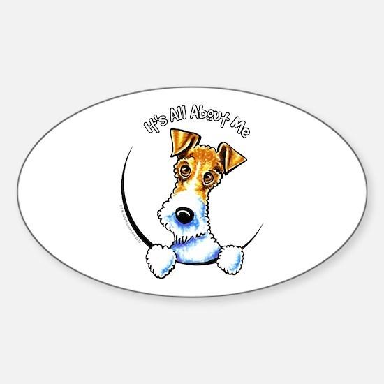 Wire Fox Terrier IAAM Sticker (Oval)