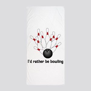 I'd Rather Be Bowling Beach Towel
