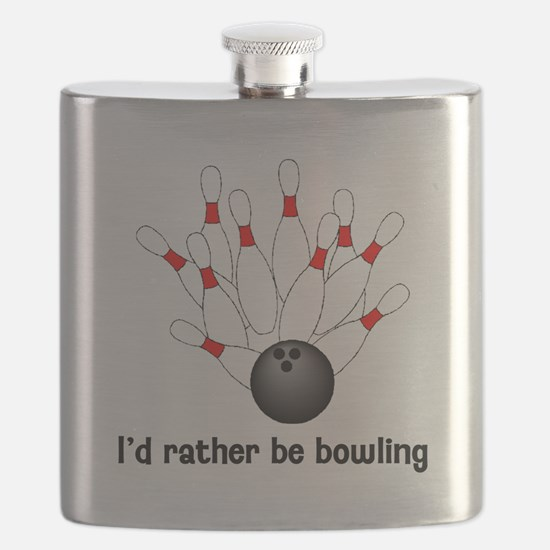 I'd Rather Be Bowling Flask