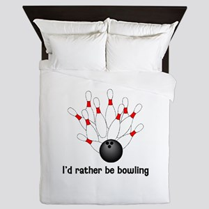 I'd Rather Be Bowling Queen Duvet