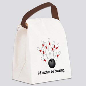 I'd Rather Be Bowling Canvas Lunch Bag
