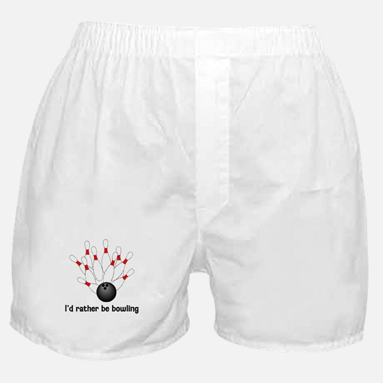 I'd Rather Be Bowling Boxer Shorts
