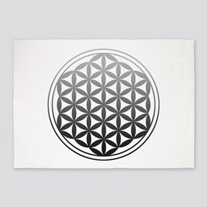 flower of life2 5'x7'Area Rug