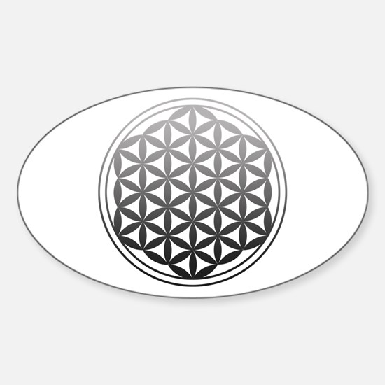 flower of life2 Sticker (Oval)