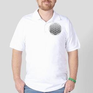 flower of life2 Golf Shirt