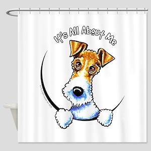 Wire Fox Terrier IAAM Shower Curtain
