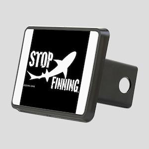 Stop Shark Finning Awareness Logo Hitch Cover