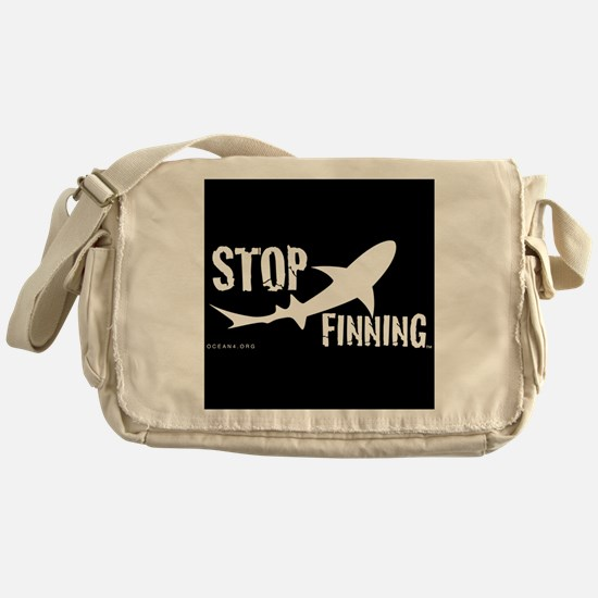 Stop Shark Finning Awareness Logo Messenger Bag