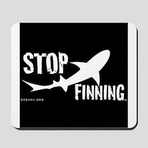 Stop Shark Finning Awareness Logo Mousepad