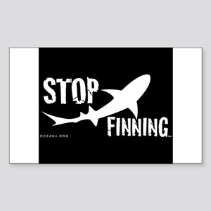 Stop Shark Finning Awareness Logo Sticker