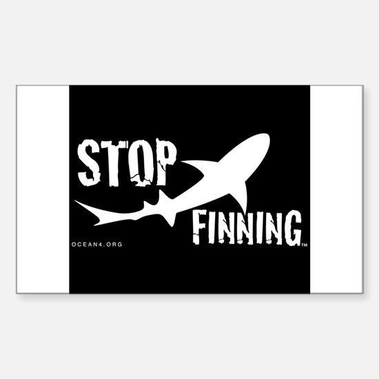 Stop Shark Finning Awareness Logo Decal