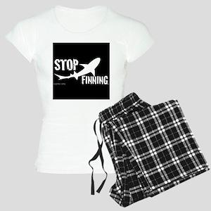 Stop Shark Finning Awareness Logo Pajamas