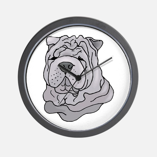Chinese Shar-Pei Wall Clock