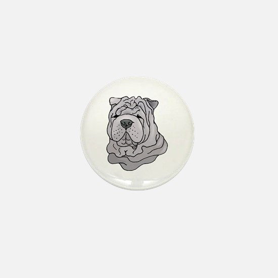 Chinese Shar-Pei Mini Button
