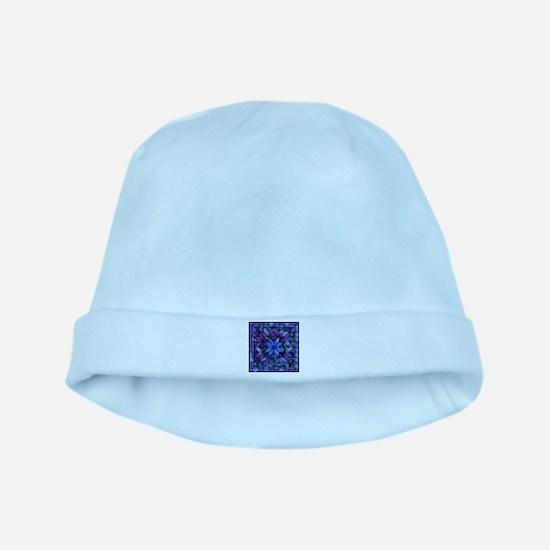 Blue Quilt baby hat