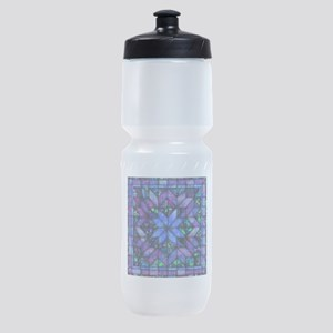 Blue Quilt Sports Bottle