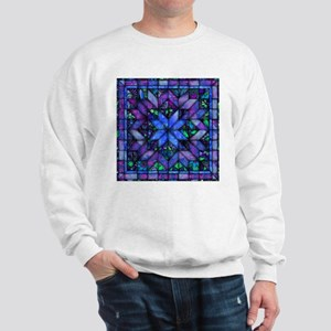 Blue Quilt Sweatshirt