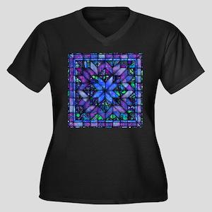 Blue Quilt Plus Size T-Shirt