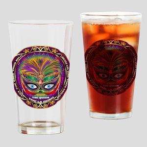 Mardi Gras Queen 8 Drinking Glass