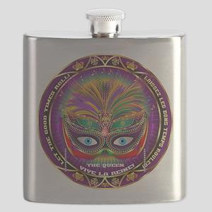 Mardi Gras Queen 8 Flask