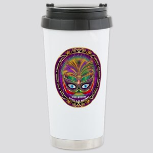 Mardi Gras Queen 8 Stainless Steel Travel Mug