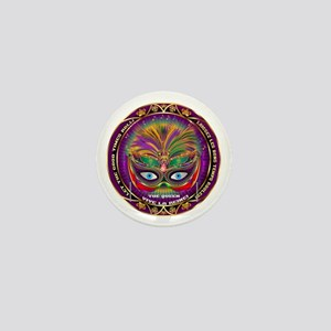 Mardi Gras Queen 8 Mini Button