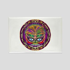 Mardi Gras Queen 8 Rectangle Magnet