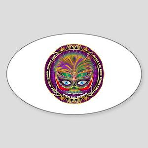 Mardi Gras Queen 8 Sticker (Oval)