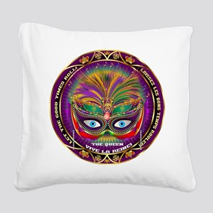 Mardi Gras Queen 8 Square Canvas Pillow